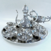 6382.Silver Coffee Set c.1900