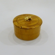 Woodbox with silverfrog c.1900 Russia