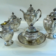6407.Silver Five-Piece Tea And Coffee Set Service c.1840